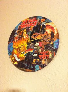 Star Wars Comic Book Clock by EJcrafting on Etsy, $25.00