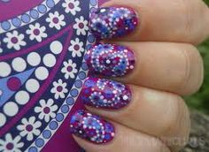 Purple paisley nails from Vera Bradley