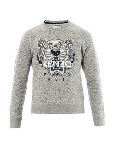 Kenzo Tiger-embroidered sweatshirt MATCHESFASHION.COM #MATCHESFASHION #MATCHESMAN