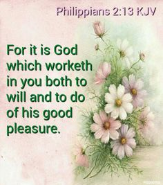 Philippians 2:13 KJV - For it is God which worketh in you both to will and to do of his good pleasure.