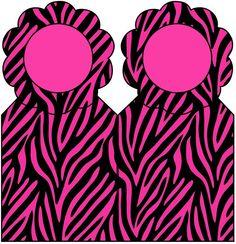 AQUARELINHA: Kit Zebra Pink