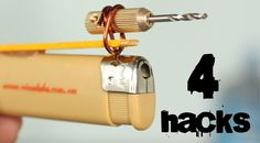 4 crazy Tools from a Lighter You've Never Seen Before Lighter Hacks Diy Generator, Homemade Generator, Trip Wire Alarm, Foam Cutter, Homemade Weapons, Homemade 3d Printer, Arts And Crafts House, Soldering Iron, Camping