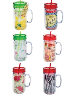 Mason Jar Cup with Straw was $18.99 now on SALE AS LOW AS $9.99! Available in six options, including: LEMONS, HEY YA'LL, FLAGS, BBQ, WATERMELON and ZEBRA.
