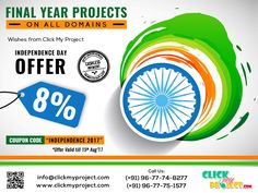 #Clickmyproject #FinalYearProjects #ProjectGuidance #LiveChat #IEEEFinalYearProject Hurry up !!! Independence day offer upto 8% @ Clickmyproject