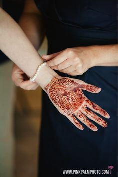Beautiful henna design work for our non traditional Indian wedding held at the Secrets Maroma. #mishkadesignsmexico