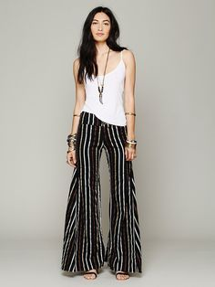 Free People Linen Extreme Flare at Free People Clothing Boutique