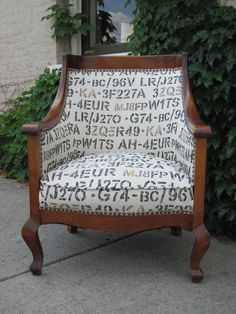 antique reupholstered chair