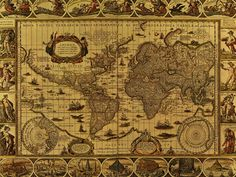 Antique World Map 1499