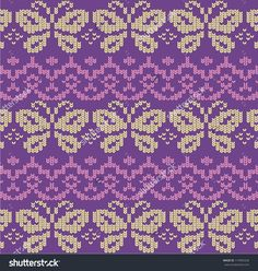 Butterfly Border < Enlarge to see knit stitch pattern / ss