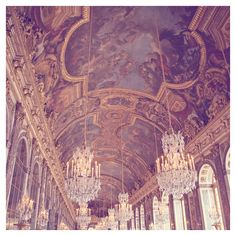 Versailles Photograph, Paris Decor, Paris Photography - Hall of... ($25) ❤ liked on Polyvore