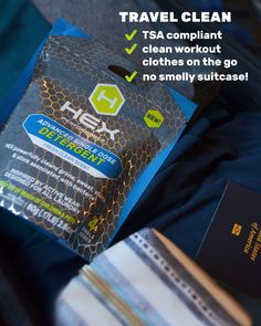 Get 4 powerful HEX single doses to see for yourself how much better HEX can clean – before you commit to a full size! A simple 4 pack sample will show you how our tough detergent will get your clothes smelling and feeling brand new again. Hotel Room Workout, Gym Bag Essentials, Travel Workout, Fresh And Clean, Laundry Detergent, Travel Size Products, Vacations, Workouts, Traveling