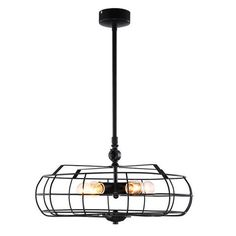 Bring a touch of rustic charm to your home decor with this 5 lights chandelier, highlighting a gorgeous black finish. This fixture features 5 lights are encased in a fan shape cage with edison bulbs. It is sure to update any living or business spaces.  Perfectly suitable for hanging in your living room, dining room,bar and more, it will always be the center of attention no matter it's on or off.