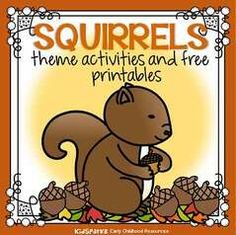 Squirrels theme activities and printables for Preschool