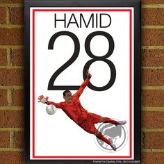 Bill Hamid 28 Poster - DC United - MLS Soccer Poster poster, art, wall decor, home decor, Hamid print, dc united art by Graphics17 on Etsy