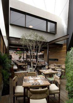 el mercado lima, peru restaurant open garden interior design