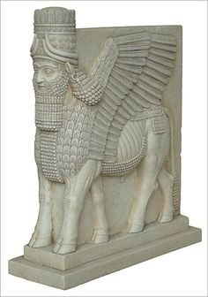 Assyrian Lamassu Winged Lion - Metropolitan Museum of Art, New York 883 - 859 B. - From Pair Ancient Aliens, Ancient Art, Ancient History, Art History, Ancient Mesopotamia, Ancient Civilizations, Turm Von Babylon, Ancient Goddesses, Cradle Of Civilization