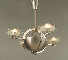 Phenomenal French Art Deco/Moderne Saturn Chandelier *copper brass* circa: 1930