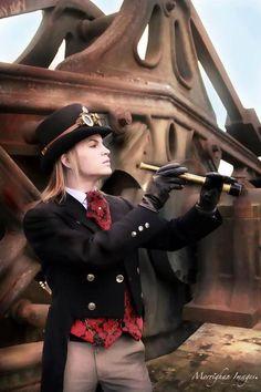 ~ Steampunk Gentleman, very dapper! <--- you got THAT right ; Steampunk Gears, Steampunk Costume, Steampunk Clothing, Steampunk Fashion, Arte Punk, Punk Art, Steam Girl, Steam Punk, Victorian Steampunk