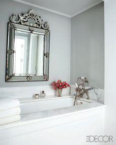 My venetian mirror hung horizontally above bath tub