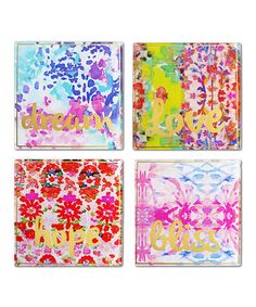 Look what I found on #zulily! Pink Coaster - Set of Four #zulilyfinds
