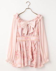 ブーケリボン柄トップス 渋谷109で人気のガーリーファッション リズリサ公式通販