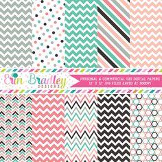 Spring Fever Digital Paper Pack – Erin Bradley/Ink Obsession Designs