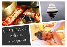 collage gift card voor een wellness arrangement / gift card collage with 3 pictures