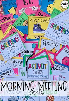 These cards will make planning a morning meeting simple. Students can choose the activity, greeting, or sharing.