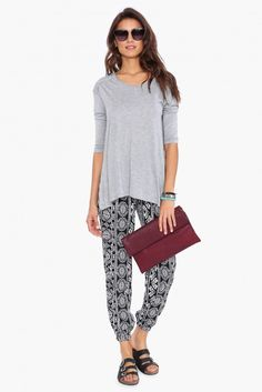 Basic Fall Top in Grey | Necessary Clothing