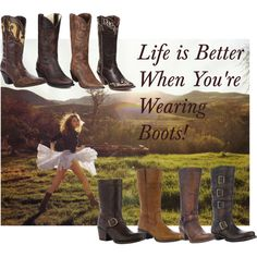 """""""Life is Better When You're Wearing Boots!"""" ~ Durango Boots!"""