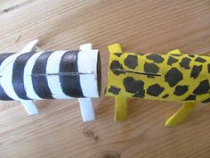 I& back on the cardboard animal trail - this time my mini maker asked for a zebra and a giraffe to add to the lions we& already made for. Toilet Paper Roll Crafts, Paper Crafts, Afrika Festival, Zebra Craft, Cardboard Animals, Giraffe, Elephant, Kindergarten, Zebras