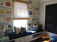 Big chalkboard or magnetic board in kids' room