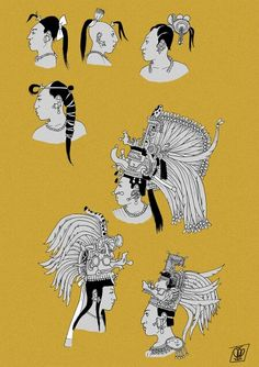 Mayan makeup and hair pt1