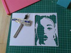 Fka Twigs papercut portrait by Mrs Scuffer's Handcut handcut.yolasite.com