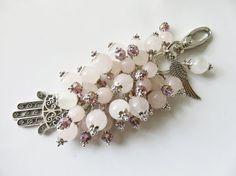 Check out this item in my Etsy shop https://www.etsy.com/uk/listing/482071901/pink-bag-charm-rose-quartz-bag-charm-gem