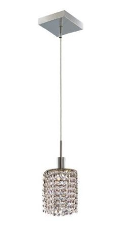 Elegant Lighting 1281D-S-R-CL/RC Mini 8-Inch High 1-Light Chandelier, Chrome Finish with Crystal (Clear) Royal Cut RC Crystal by Elegant Lighting, $110