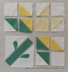 Moore About Nancy: Single Lily quilt block - quilt patterns Quilt Square Patterns, Patchwork Quilt Patterns, Barn Quilt Patterns, Applique Quilts, Square Quilt, Pattern Blocks, Nancy Zieman, Star Quilt Blocks, Flower Quilts