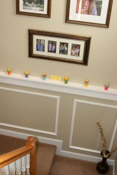 Easter decor ; stairwell