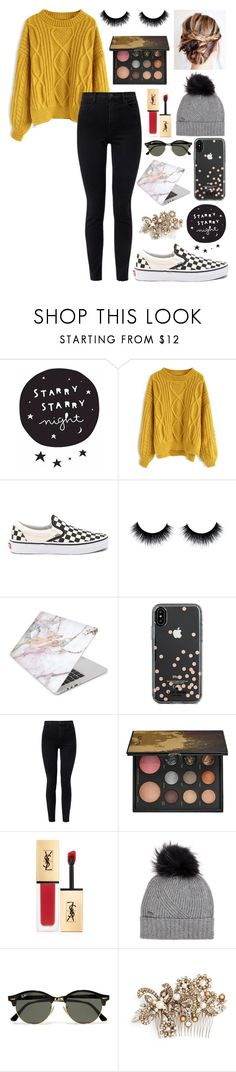 """Untitled #104"" by alyssa-wilsonn ❤ liked on Polyvore featuring Chicwish, Vans, Recover, Kate Spade, J Brand, Sephora Collection, Yves Saint Laurent, Woolrich, Ray-Ban and Erickson Beamon"