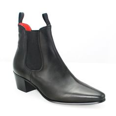 From The New Women's Boot Collection Beatwear Original Chelsea Boot in Black Calf Leather Premium Italian Calf Leather FinishPull-on ankle bootTwin pull Calf Leather, Leather Shoes, Cuban Heel Boots, Beatle Boots, Black Chelsea Boots, Dress With Boots, Fashion Boots, Shoe Boots, Liverpool England