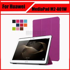 3 in 1 Luxury Stand pu leather case cover For Huawei MediaPad M2 10 M2-A01W M2-A01L 10.0 10.1 Tablet PC + Screen film + stylus #Affiliate