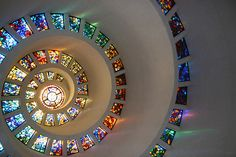 * C U R A T E D * S T Y L E * Thanksgiving Square Chapel, downtown Dallas. Photo 'Glory' by Peto via Flickr.