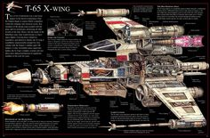X-Wing - Cross Section. Click image to enlarge.
