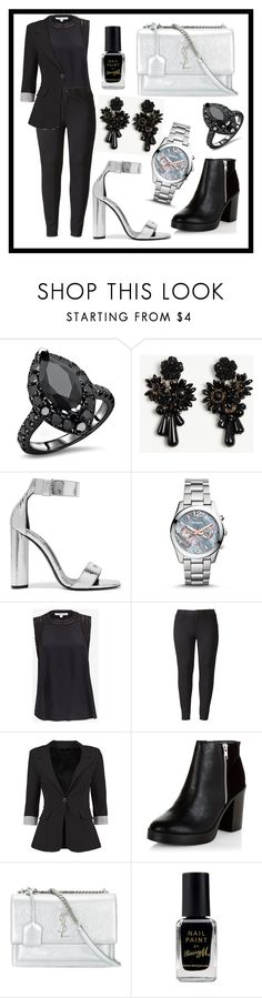 """""""🎉🎉🎉"""" by nejra2002 ❤ liked on Polyvore featuring Ann Taylor, Tom Ford, FOSSIL, Elizabeth and James, Simply Vera, Boohoo, New Look, Yves Saint Laurent and Barry M"""