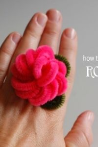 How to make pipe cleaner rose rings.
