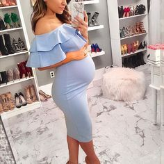 Would not it be the most beautiful baby shower dress ? - Would not it be the most beautiful baby shower dress ? It was a … – Baby shower – - Maternity Dresses For Baby Shower, Cute Maternity Outfits, Stylish Maternity, Pregnancy Outfits, Mom Outfits, Maternity Wear, Dress Outfits, Baby Shower Outfits, Pregnancy Fashion