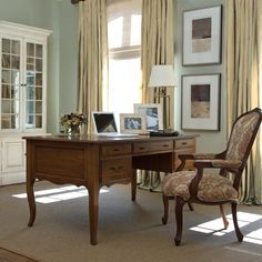 Ruth 39 S Office On Pinterest Writing Desk Pedestal Desk