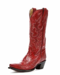Women's Desert Red Goat Leather Boot - R1952 These even come in 12 but I don't wear boots enough. These are pretty.