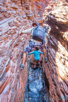 Spiderman walk in Karijini National Park - Western Australia