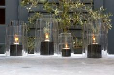 10 Easy Pieces: Glass Hurricane Lanterns, from High to Low - Gardenista